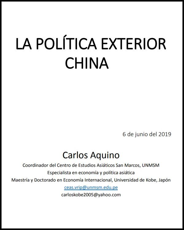 La política exterior de China
