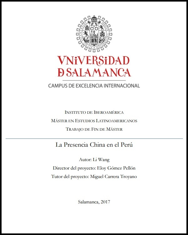 La presencia china en el Perú